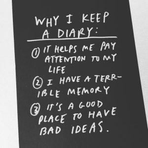 Austin Kleon Why Keep a Diary
