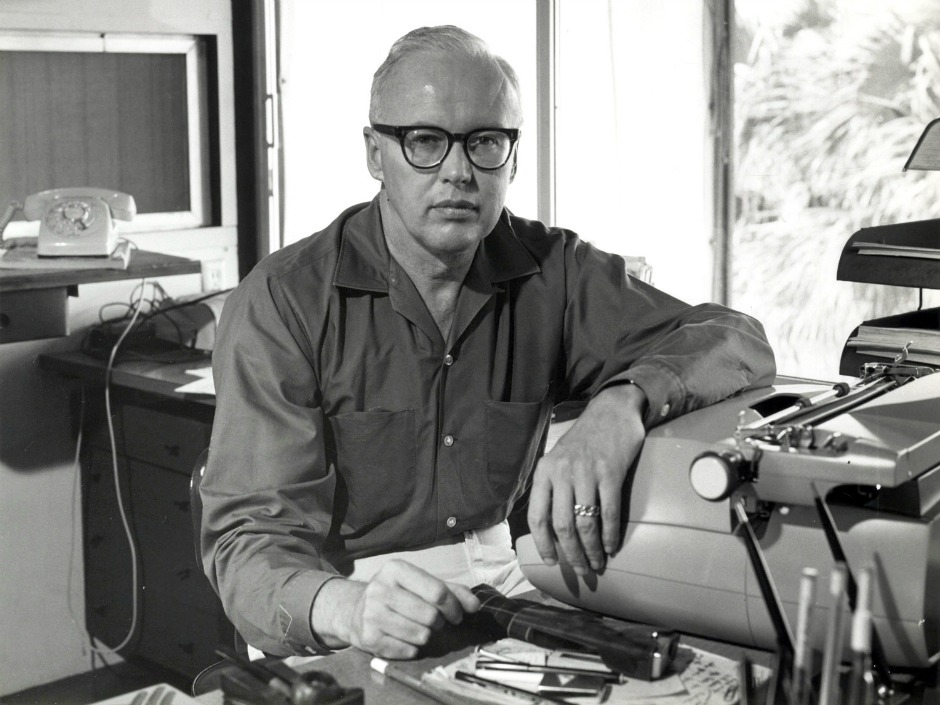 John D Macdonald at his Red Hot Typewriter