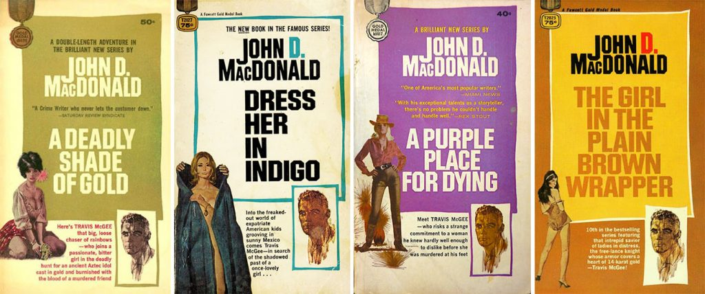 Travis McGee Gold Indigo Purple Brown